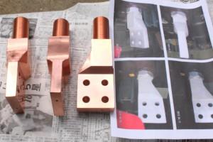 銅ブロックからの加工品